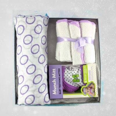 Purple Baby Shower Gift for Girl