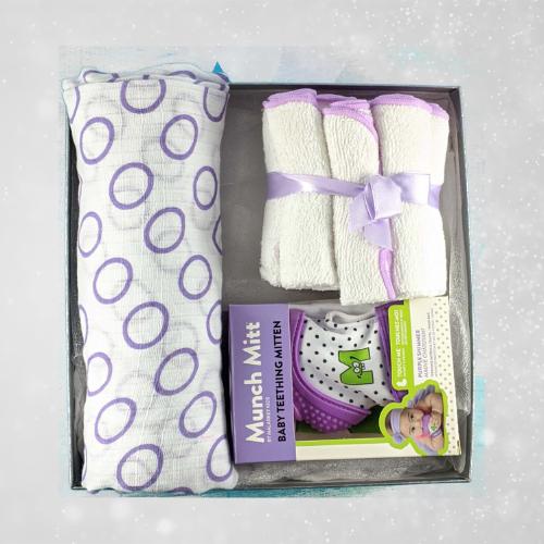 Purple Baby Shower Gift for Girl