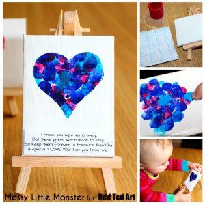 Baby Valentine Fingerprint Heart