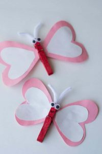 Butterfly Heart Clothespin