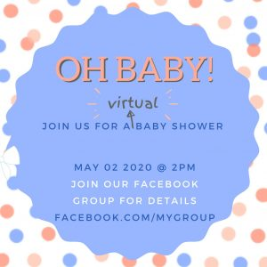 Virtual Baby Shower Invite Canva