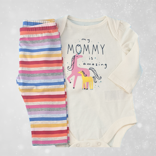 Mommy is Amazing Gap baby girl outfit