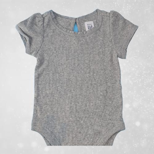 Gap baby girl bodysuit grey