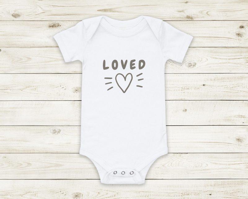 loved baby bodysuit custom