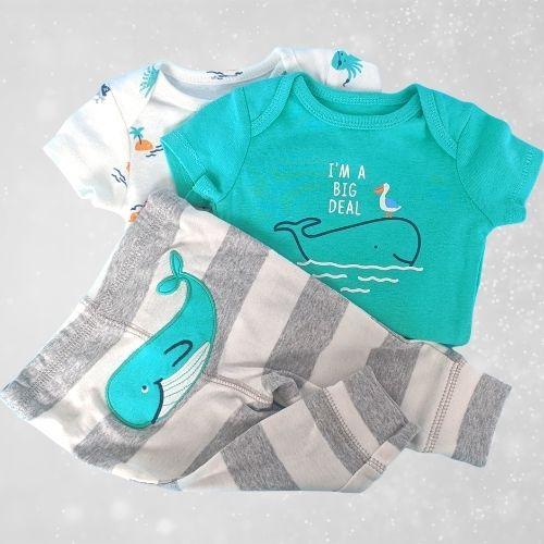Carter's Whale Onesie Set Baby Boy