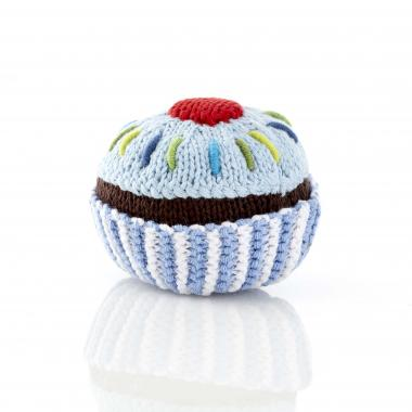 Baby blue Cupcake Rattle