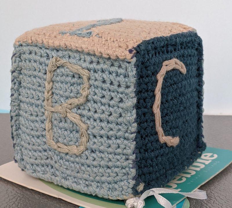 Pebble Baby Cube Blue