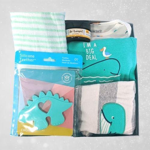 Teal Blue Baby Boy Gift Set