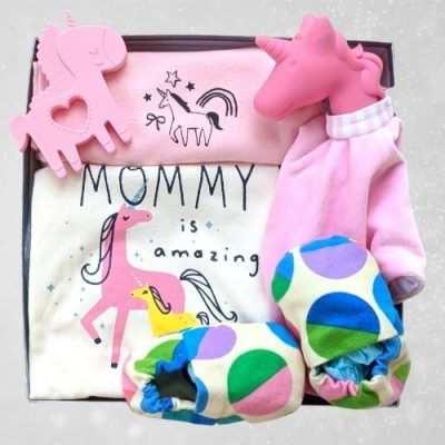 Unicorn baby girl gift set