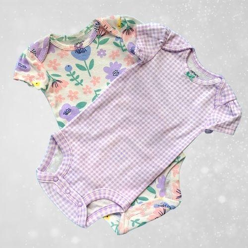 Purple baby onesie set