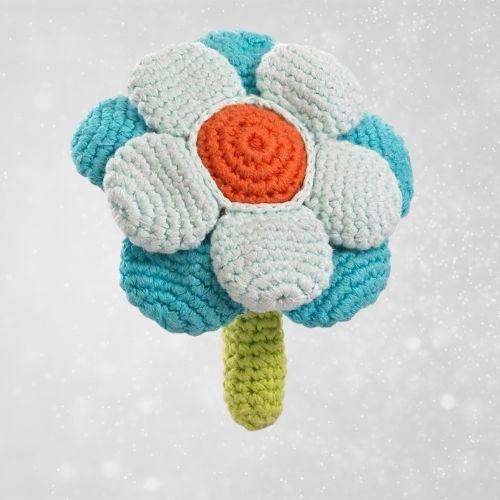 Pebble flower rattle baby gift idea