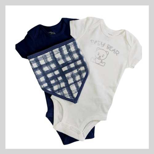 Baby Outfit and Bib